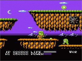 In game image of Bucky O'Hare on the Nintendo NES.