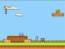 In game image of Bugs Bunny Birthday Blowout on the Nintendo NES.