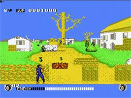 In game image of Cabal on the Nintendo NES.