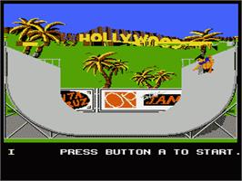 In game image of California Games on the Nintendo NES.