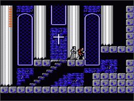 In game image of Castlevania 2: Simon's Quest on the Nintendo NES.