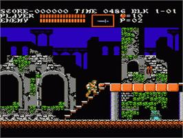 In game image of Castlevania III: Dracula's Curse on the Nintendo NES.