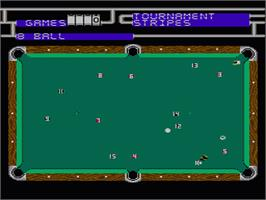 In game image of Championship Pool on the Nintendo NES.
