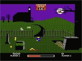 In game image of Chiller on the Nintendo NES.