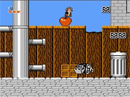 In game image of Chip'n Dale: Rescue Rangers on the Nintendo NES.