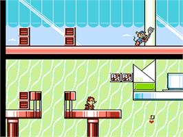 In game image of Chip 'N Dale Rescue Rangers 2 on the Nintendo NES.