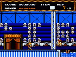In game image of Circus Caper on the Nintendo NES.