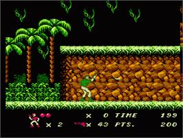 In game image of Code Name: Viper on the Nintendo NES.