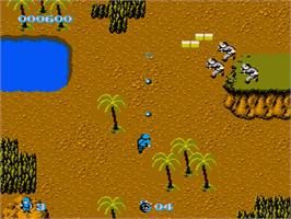 In game image of Commando on the Nintendo NES.