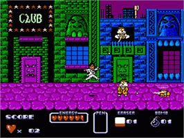 In game image of Cool World on the Nintendo NES.