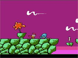 In game image of Cosmic Spacehead on the Nintendo NES.