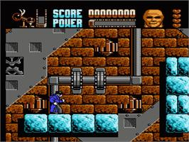 In game image of Darkman on the Nintendo NES.