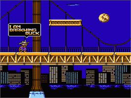 In game image of Darkwing Duck on the Nintendo NES.