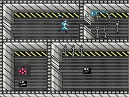 In game image of Deathbots on the Nintendo NES.