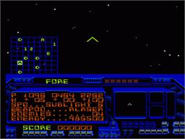 In game image of Destination Earthstar on the Nintendo NES.