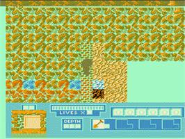 In game image of Digger T. Rock: Legend of the Lost City on the Nintendo NES.