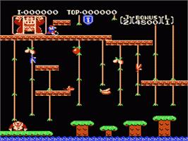 In game image of Donkey Kong Junior on the Nintendo NES.