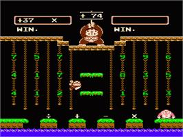 In game image of Donkey Kong Junior Math on the Nintendo NES.