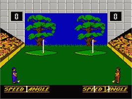 In game image of Double Dare on the Nintendo NES.