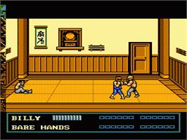 In game image of Double Dragon 3 - The Rosetta Stone on the Nintendo NES.