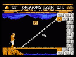 In game image of Dragon's Lair on the Nintendo NES.