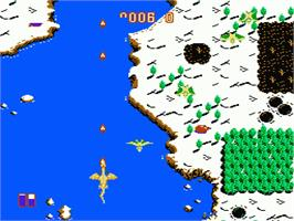 In game image of Dragon Spirit on the Nintendo NES.