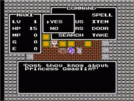 In game image of Dragon Warrior on the Nintendo NES.
