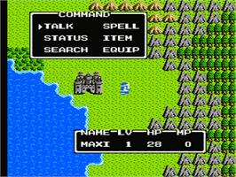 In game image of Dragon Warrior 2 on the Nintendo NES.