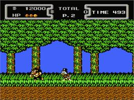 In game image of Duck Tales on the Nintendo NES.