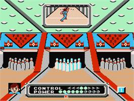 In game image of Dynamite Bowl on the Nintendo NES.