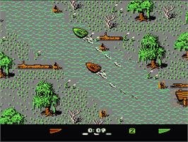 In game image of Eliminator Boat Duel on the Nintendo NES.