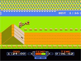 In game image of Excite Bike on the Nintendo NES.