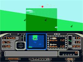 In game image of F-117A Stealth Fighter on the Nintendo NES.