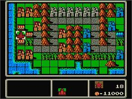 In game image of Famicom Wars on the Nintendo NES.