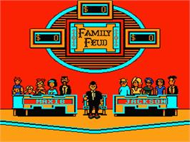 In game image of Family Feud on the Nintendo NES.