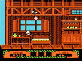 In game image of Fantastic Adventures of Dizzy on the Nintendo NES.