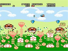 In game image of Fantasy Zone 2 on the Nintendo NES.