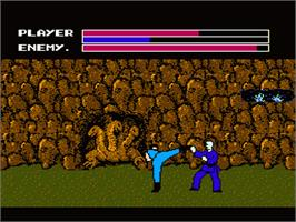 In game image of Fighting Road on the Nintendo NES.