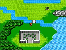 In game image of Final Fantasy 2 on the Nintendo NES.