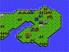 In game image of Fire Emblem on the Nintendo NES.