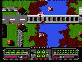 In game image of Fire Hawk on the Nintendo NES.