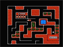 In game image of Fisher-Price: Firehouse Rescue on the Nintendo NES.