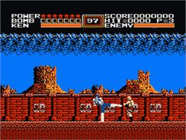 In game image of Fist Of The North Star on the Nintendo NES.