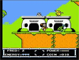 In game image of Flintstones: The Rescue of Dino & Hoppy on the Nintendo NES.