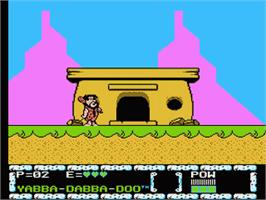 In game image of Flintstones: The Surprise at Dinosaur Peak on the Nintendo NES.