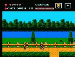 In game image of Friday the 13th on the Nintendo NES.