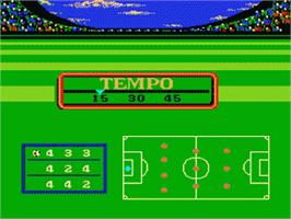 In game image of Futebol on the Nintendo NES.