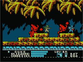 In game image of G.I. Joe: A Real American Hero on the Nintendo NES.