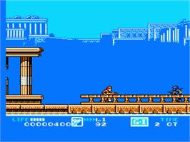 In game image of G.I. Joe: The Atlantis Factor on the Nintendo NES.