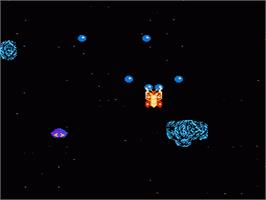 In game image of Galactic Crusader on the Nintendo NES.